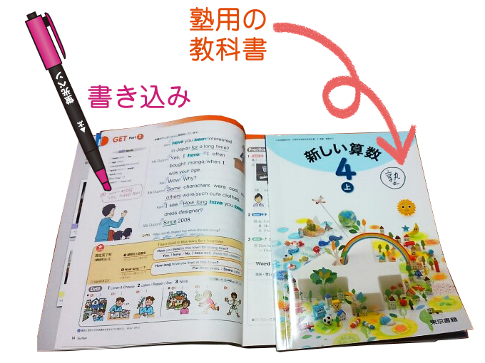 板橋学習塾の2冊の教科書